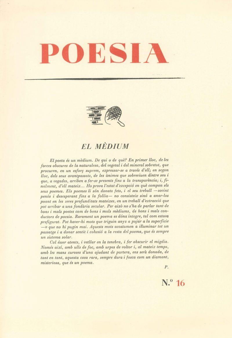 Dia Mundial de la Poesia 2020 - Fundació Palau